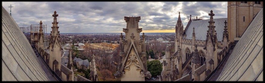 Top of the National Cathedral.