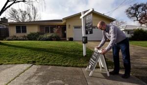 Preparing for an open house in  San Rafael, Calif. (Robert Tong/Marin Independent Journal)
