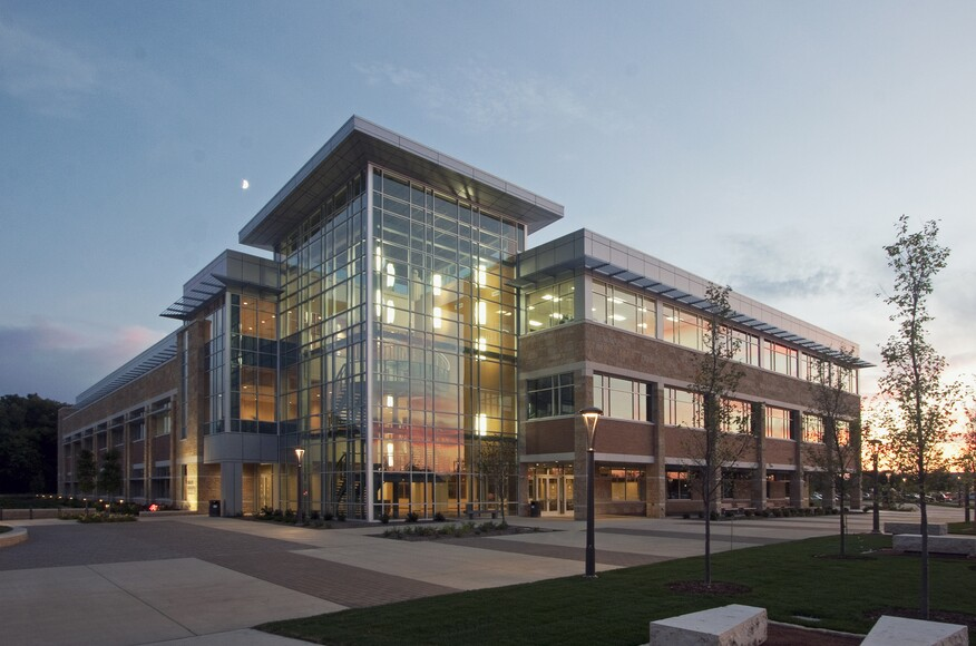 Madison College Health Education Building on top architects modern home