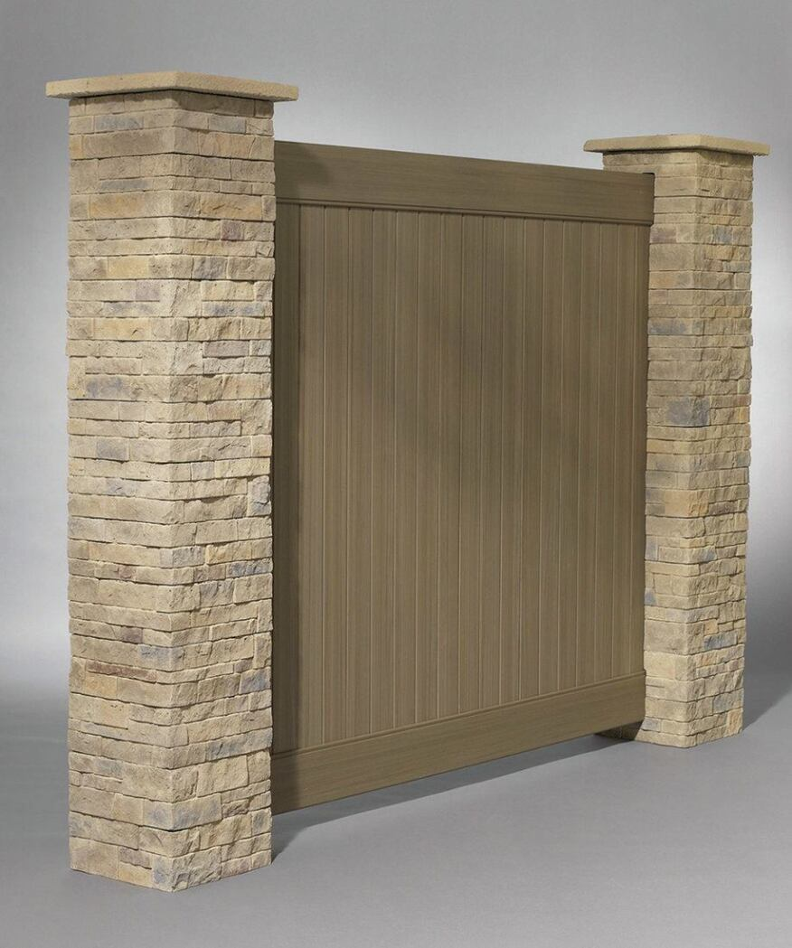 Modular stone columns professional deck builder for Prefab columns