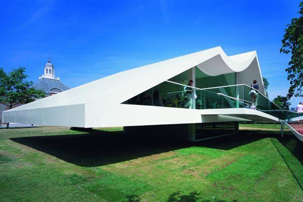 Serpentine Gallery Pavilion 2003, designed by Oscar Niemeyer