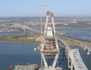 The Ravenel Bridge is now the only crossing between Mt. Pleasant, a suburb, and Charleston.