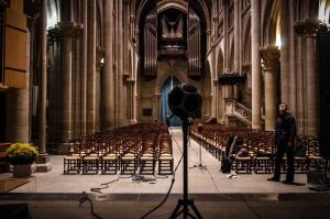 Using a microphone to create a 3D map of Lausanne Cathedral.