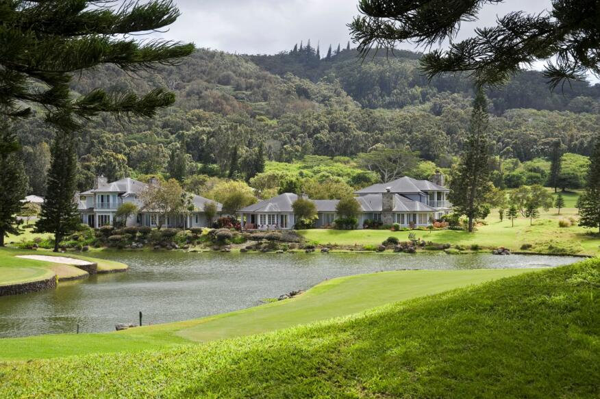 On the Green. Home buyers who don't always play golf still like the open spaces of golf-course living.
