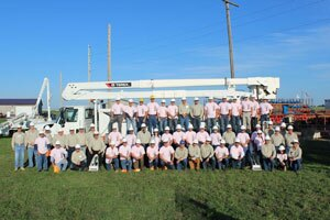 More than 30 people from five countries attended Terex Utilities' 38th annual Hands On Training seminar.