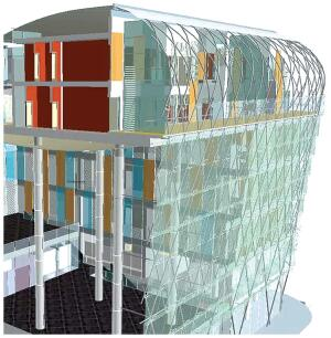 Graphisoftgraphisoft.com  Multicore processor support • New curtain-wall tool • Partial structure display permits coordination with engineers • New documentation features for annotation in 3-D views with dimensions, notes, and 2-D drawings
