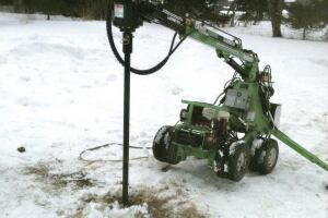 In frozen ground, a pile can be driven normally after the ground is warmed using a proprietary heating rod.