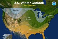 Winter Forecast: Warmer, Drier South and Cooler, Wetter North