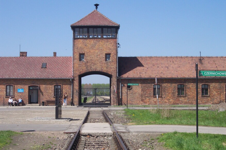 More than 1 million people were murdered by the Nazis at the concentration camp of Auschwitz-Birkenau in Poland. Its main gate house—familiar from the movieSchindler's List—has become an indelible symbol of the horrors that took place inside. But is it not just a symbol. Like any other building, it was constructed in stages, by human hands; in this case, by the hands of the very prisoners it confined and gassed. The seam in the front wall shows construction stopping and starting, a powerful reminder of the grueling forced labor that went into building Auschwitz over a period of years.