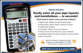 Pipe Trades Pro – instant answers for pipe layout/ design problems