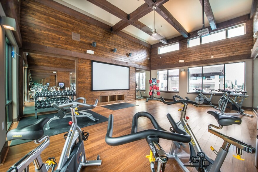 Greystar has implemented new equipment and open spaces for classes in its fitness center in Plano, Texas.