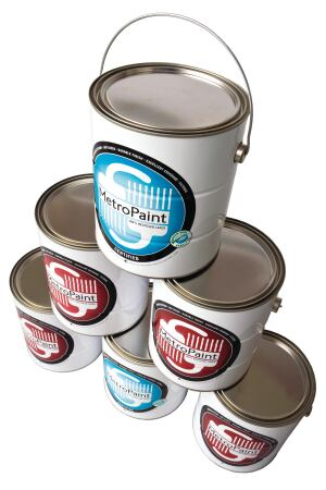 METROPAINT. Made in Portland, Ore., and available in the Pacific Northwest, this company offers two lines of its recycled latex paint. The original line has a higher VOC level, but the organization also offers a version that is certified to both Green Seal and MPI recycled paint standards. A variety of colors are available, but exact matches cannot be guaranteed. MetroPaint is sold in 1- and 5-gallon sizes. 503.234.3000. www.oregonmetro.gov/paint.