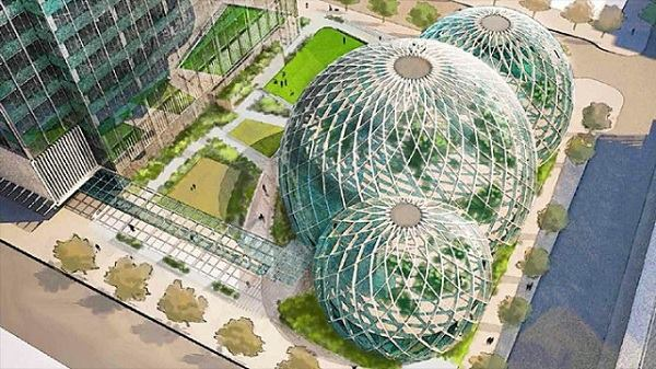 Proposed biodome design for Amazon headquarters.
