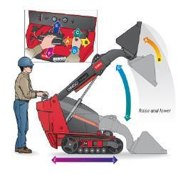 Figure 9. When raising the bucket of a loader, it's important to simultaneously lower the bucket's angle. Otherwise, depending on how it's loaded, there's a chance that material could fall out toward the operator.