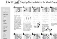 CableRail Assemblies Installation - Wood Railings