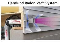 RADON VAC™ SIDE WALL RADON EXHAUST  SYSTEM REDUCES INSTALLATION COSTS