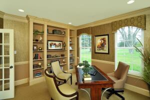 Providing flexible second-floor living space in its eight models, such as the home office pictured here, has been the key to success for Wyngate at Medford, an active-adult community in southern New Jersey where builder/developer Bob Meyer Communities has sold 90 of 233 units since its opening in 2009.