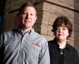 FEELING THE BITE: Tom Zuern and Arleen Mantel of Zuern Building Products make liberal use of Wisconsin's lien laws to ensure that contractors pay up.