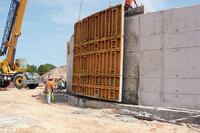 Reconfigurable Formwork was used on the Moore County Water Pollution Control Plant Expansion
