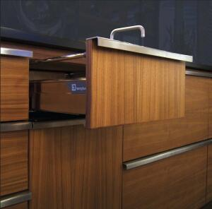 "piece work  The Henrybuilt Modular Program allows architects to order individual cabinet components from a select menu of materials, including bamboo, laminate, and glass. Modular components are designed and built to the same standards as those in the company's Studio Program, with one exception: Modular products, which Ryker selected for this kitchen, are built from sustainable materials. Henrybuilt Corp., 866.624. 9270; www.henrybuilt.com.  ""henrybuilt kitchen modulars are high-quality, functional cabinets with modern lines."""