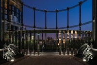 Gasholder Park, at King's Cross in London
