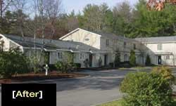 YANKEE THRIFT: An exterior and energy makeover turned Easton Crossing into a more desirable and profitable property.