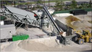 An onsite batch plant alleviated any traffic delays. Concrete always was available and close at hand.