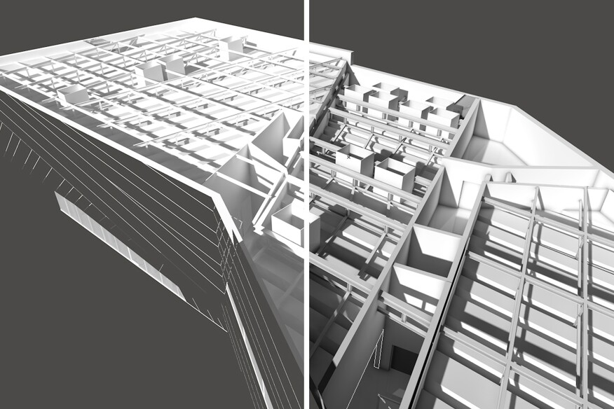 Ambient occlusion enhances shadowing in renderings (right)
