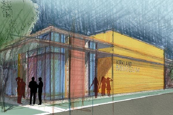 A rendering of the new Kirkland Museum