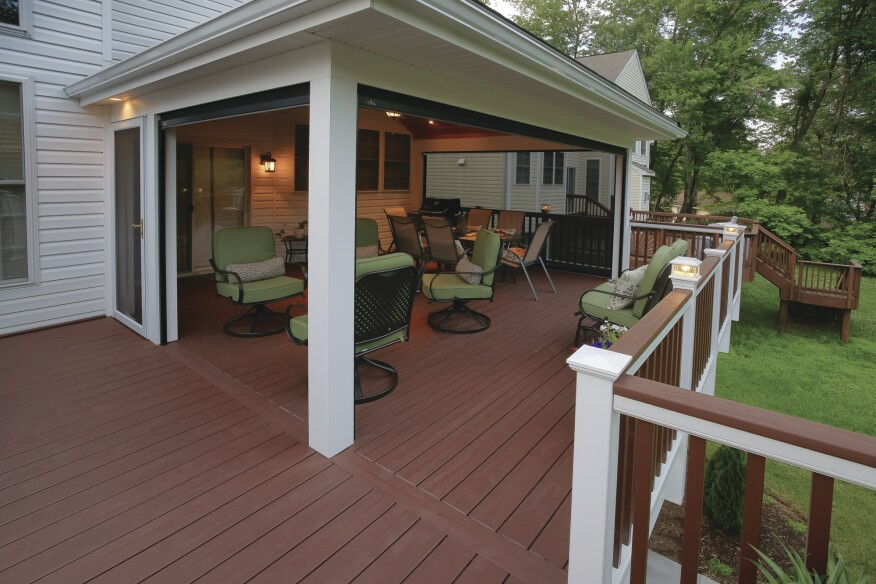 Installing retractable screens professional deck builder Motorized porch screens