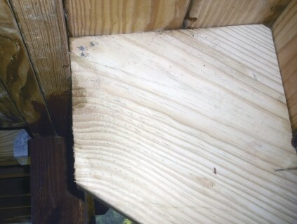 Dropping the stringers without also installing a dropped header can lead to a situation like this, where the stringers have inadequate bearing on the rim joist. The risk is that the stringer will split along the grain.