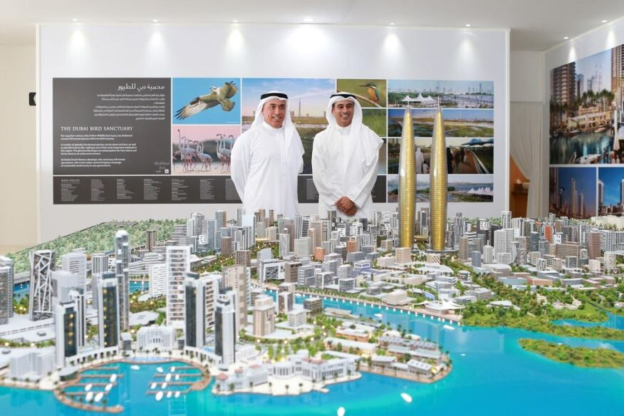 The unveiling of the Dubai Creek Harbour on October 27 in Dubai.