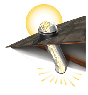 Raybender and other proprietary technologies allow Solatube's eChoice Tubular Daylighting Devices to deliver increased amounts of light without raising the units' solar heat gain coefficients.