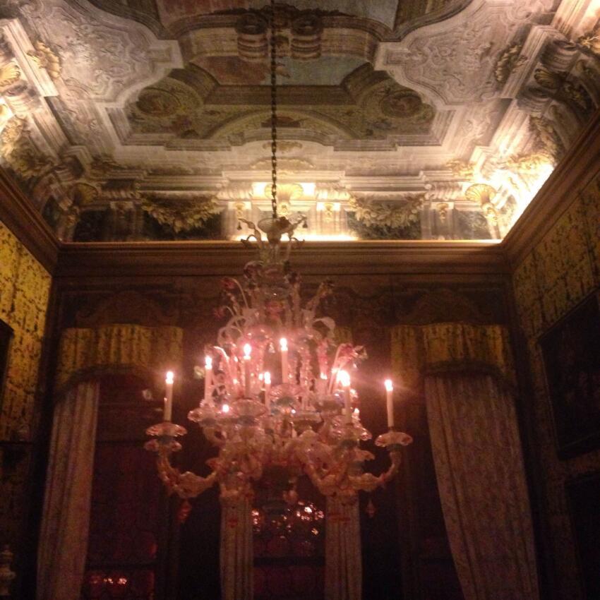 Russian pavilion party at Palazzo Pisani Moretta.