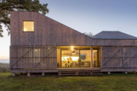 This Energy-Efficient, Angular Wooden Home Lives in the Czech Countryside
