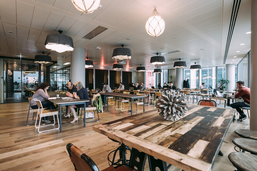 WeWork's site in London's South Bank