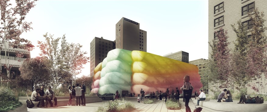 "The tangible qualities of candy—gumminess, color, softness, and translucency—inspired ""The Sweetness,"" Sports' entry for the 2014 Louisville Children's Museum Competition."