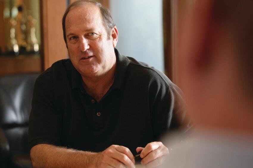 Architect William Hezmalhalch at his Santa Ana office.