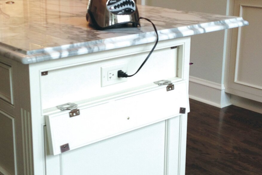 Kitchen Island Electrical Outlet power blend: creative ways with kitchen island outlets