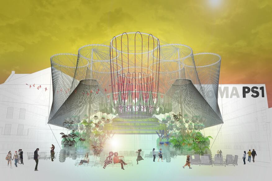 Rendering of Andrés Jaque/Office for Political Innovation's COSMO, winning design of the 2015 Young Architects Program.