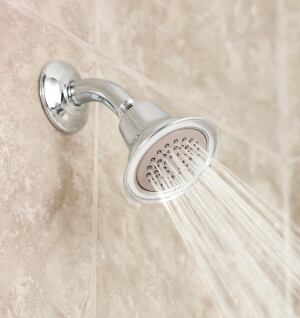 Moen is anticipating WaterSense certification for its ecoperformance showerheads which have a flow rate of 1.75 gpm.