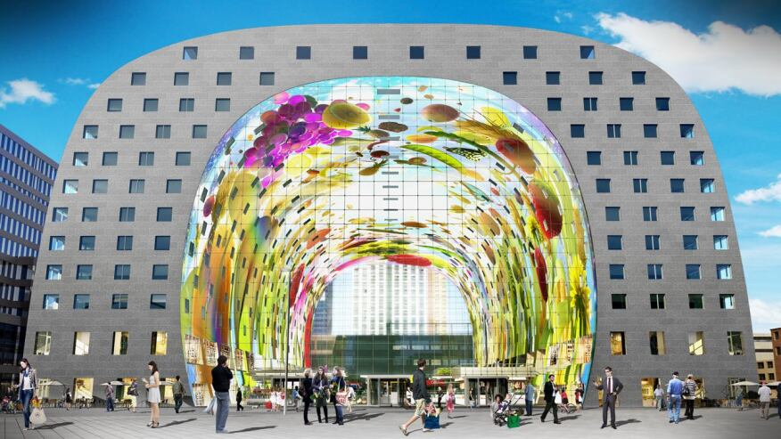 Mvrdv 39 s markthal the inhabited urban monument architect for Architecture firms in netherlands