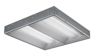 "The RTLED volumetric recessed series from Lithonia Lighting delivers ambient LED white light for office buildings, retail locations, classrooms, healthcare facilities, and more. The series includes three configurations: a 2'-by-2' fixture with 3,300 delivered lumens for high-light levels or higher mounting heights; a 2'-by-2' fixture with 2,200 delivered lumens for general application levels; and a 1'-by-4' option offers 2,200 delivered lumens for general applications. RTLED has a 50,000-hour rated system life and a three-year warranty, is mercury and lead free, is made of recyclable components and materials, and contains more than 50% recycled content. Both versions measure 3-1/8"" deep. lithonia.com"