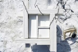 A fast-weather architectural probe constructed by University of Minnesota architecture students Daniel DeVeau, Kelly Greiner, and Kaylyn Kirby.