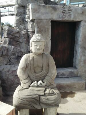 Adrian Gascon's winning project from the 2013 Artistry in Decorative Concrete Competition included this Buddha sculpted by 2014 Artistry entrant Ed Swarek.