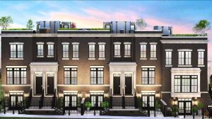 A rendering of a Hargett Place brownstone building. The first of these buildings is expected to be completed in February 2017.