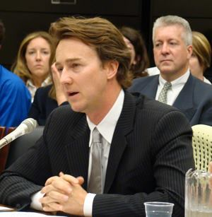 Testifying before the House Select Committee on Energy Independence and Global Warming, actor Edward Norton recommended creating a $5 billion fund to retrofit or construct better public housing that will meet new environmental standards.