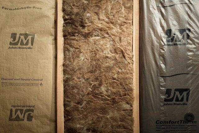 Johns Manville insulation. Photo by Sandra Malm.