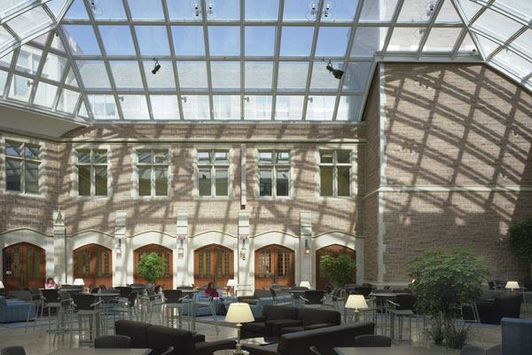 Washington University School of Law's Anheuser-Busch Hall in St. Louis, Missouri by Hartman-Cox Architects.