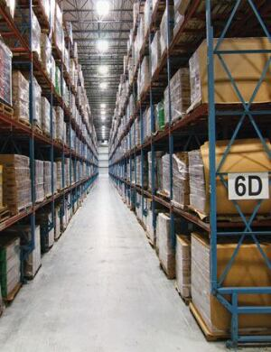 The warehouse floor at the Atlanta Bonded Warehouse in Kennesaw, Ga., still meets expectations after 11 years.